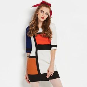 1960s Colorblock Mini Go Go Dress XL MODCLOTH